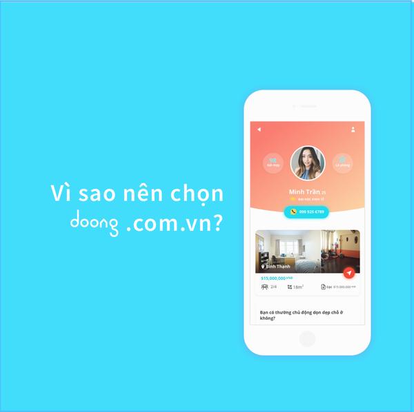 Doong.com.vn - Ứng Dụng Tìm Bạn Ở Ghép -  Share Phòng